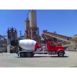 ASAP Concrete Delivery Truck At Concrete Plant