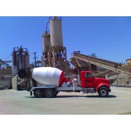 ASAP Concrete Delivery Truck At Concrete Plant