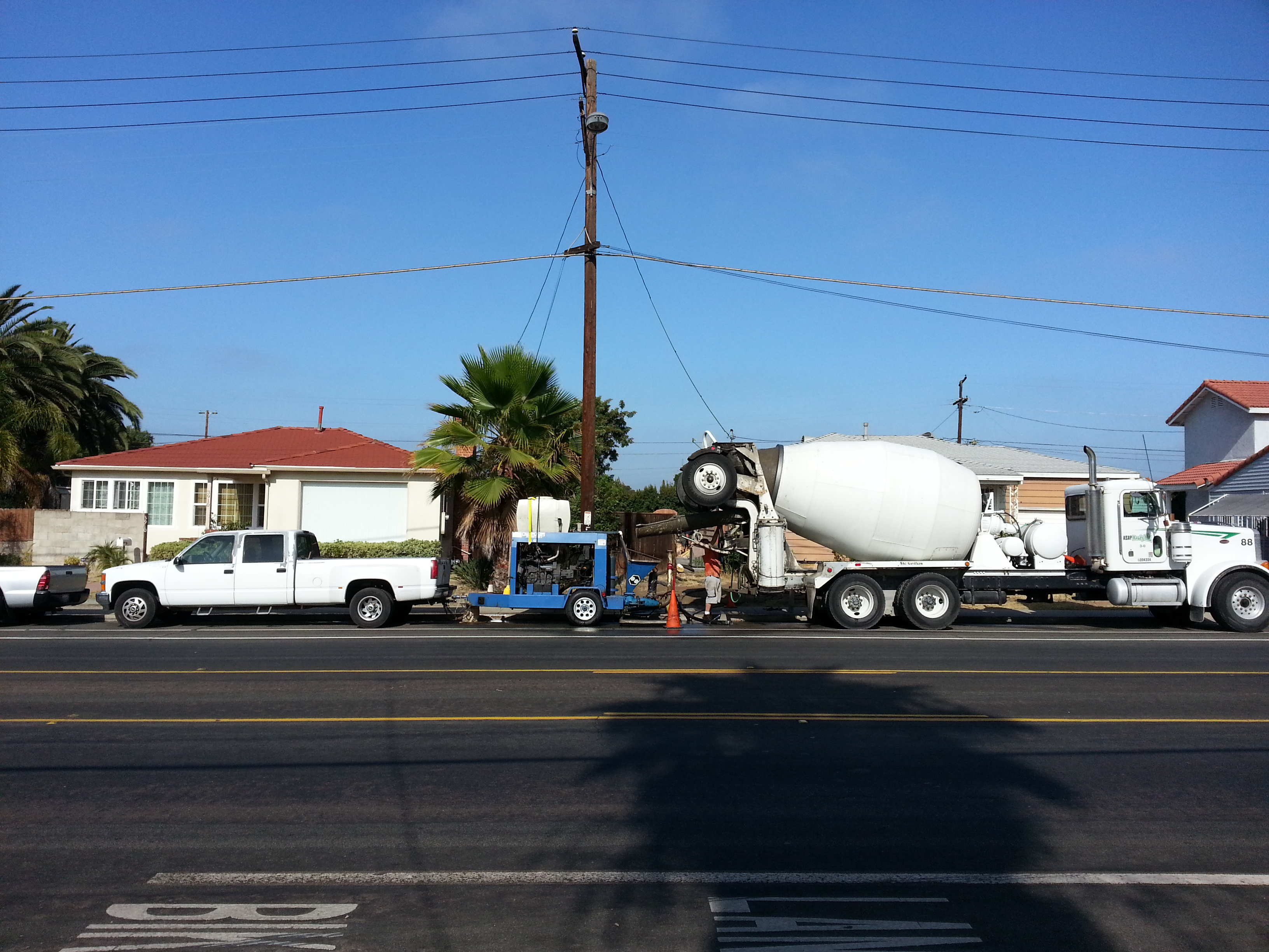 Concrete Mixer Truck and Pump
